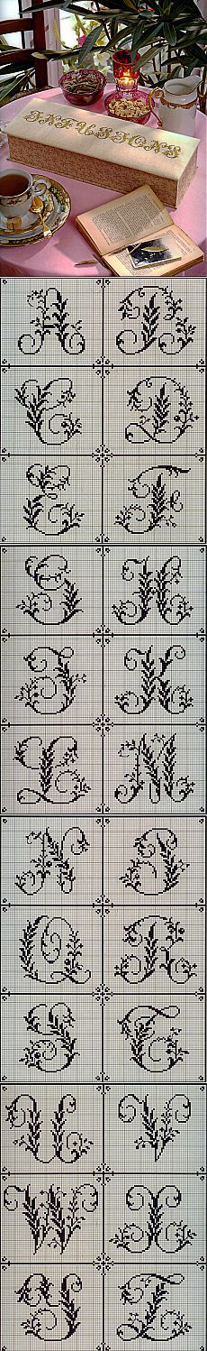 Милые сердцу штучки: рукоделие, декор и многое другое: Вышивка крестом: Алфавит из французского альбома XIX века (4)