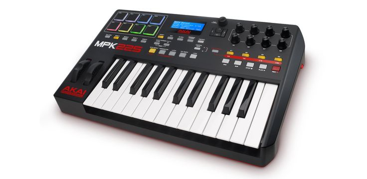 Akai Professional MPK225 | 25-Key USB MIDI Keyboard & Drum Pad Controller with LCD Screen (8 Pads / 8 Knobs)
