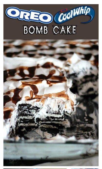 Delicious  Oreo Coolwhip Bomb Cake