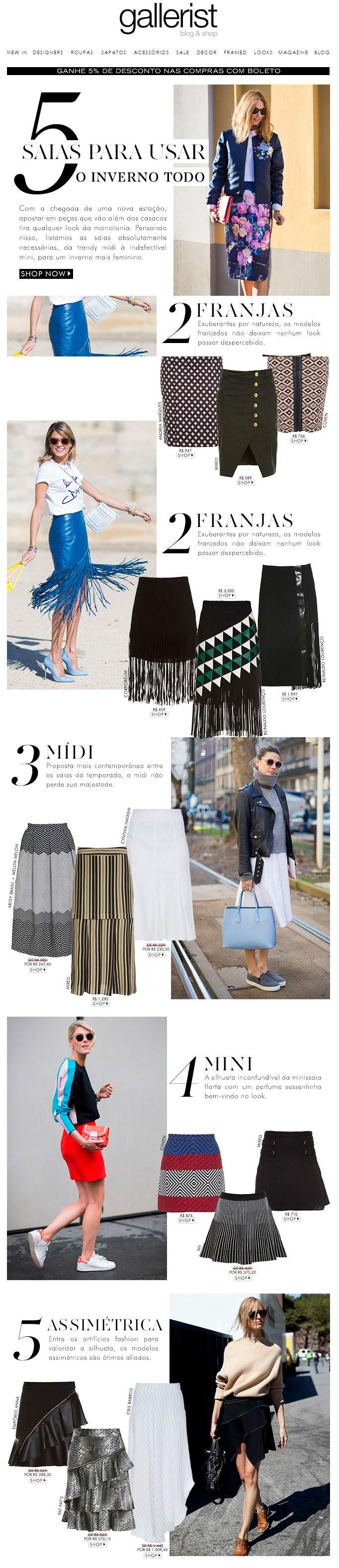 newsletter, saias, gallerist, saias de inverno, fashion news, layout, street style