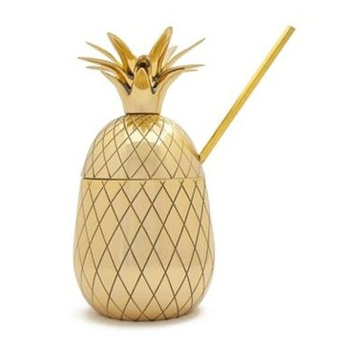 Candelabra Home Large Pineapple Tumbler - Gold | Candelabra, Inc.