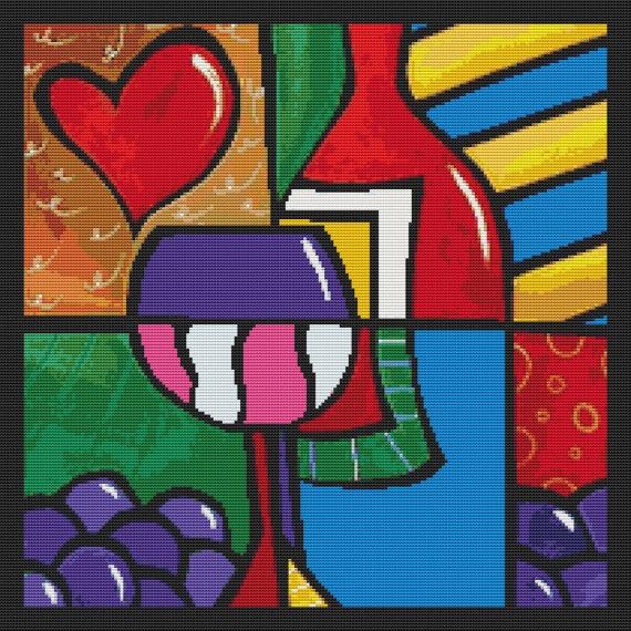 Modern Cross Stitch Kit 'Fresh Air' by Thomas Fedro - Pop Art Counted Cross Stitch