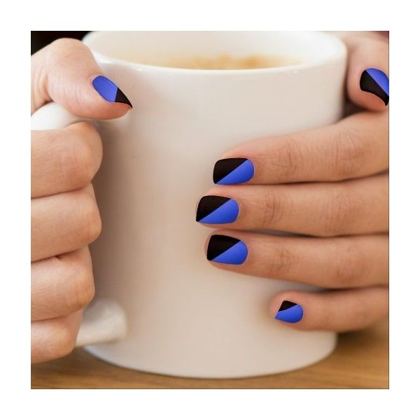 Zazzle Thin Blue Line Minx ?« Nail Art ($22) ❤ liked on Polyvore featuring beauty products, nail care, nail treatments and nails