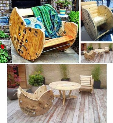 DIY : Build a Rocking Chair with a Wooden Cable Reel | DIY & Crafts Tutorials