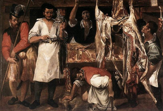 Annibale Carracci, The big butcher, 1585