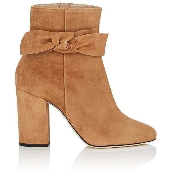 Alexander White Women's Jordan Suede Ankle Boots ($745) ❤ liked on Polyvore featuring shoes, boots, ankle booties, ankle boots, tan, chunky heel bootie, high heel ankle boots, tan suede ankle booties, high heel bootie and suede ankle booties