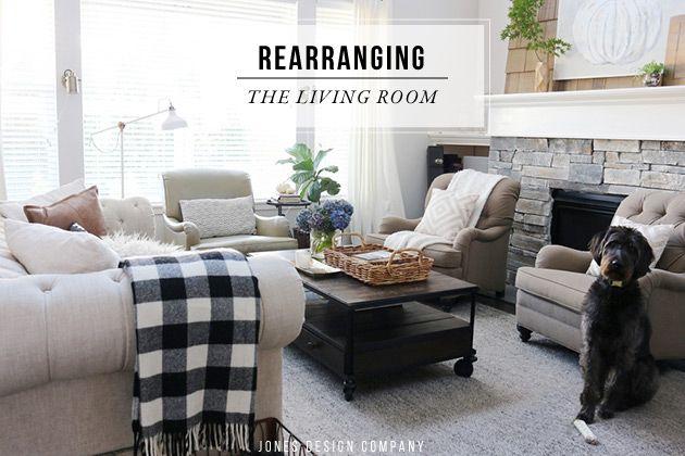rearranging the living room furniture / jones design company