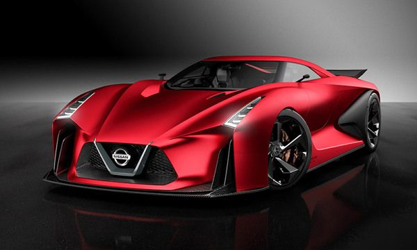 """The Nissan Concept 2020 Vision Gran Turismo Looks Devilish in """"Fire Knight Red"""""""
