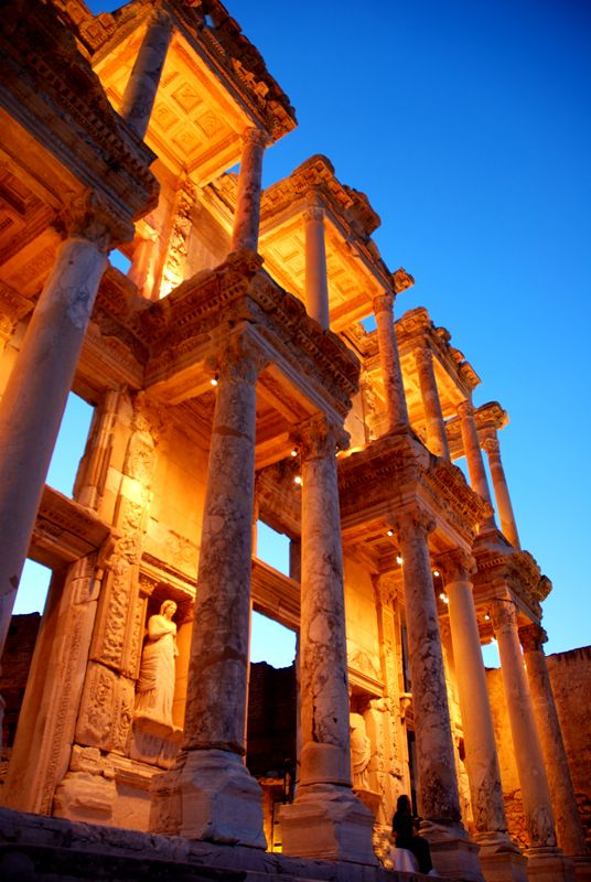 The ancient Library of Celsus in Ephesus, Anatolia, Turkey. This place is amazing! 12 years later and it's still one of the top places that left an impression on me.