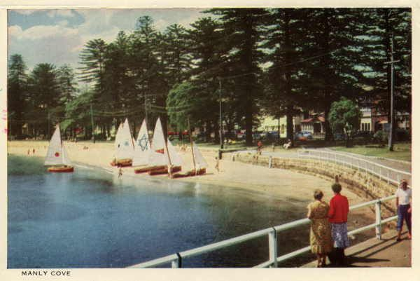 Beautiful MANLY postcard folder with photos by Frank Hurley, State Library of Victoria