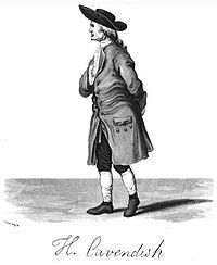 """Henry Cavendish FRS (10 October 1731 – 24 February 1810) was a British scientist noted for his discovery of hydrogen or what he called """"inflammable air"""". He described the density of inflammable air, which formed water on combustion, in a 1766 paper """"On Factitious Airs"""". Antoine Lavoisier later reproduced Cavendish's experiment and gave the element its name. Cavendish is also known for the Cavendish experiment, his measurement of the Earth's density, and early research into electricity."""