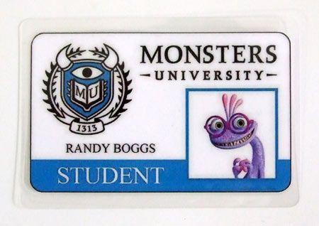 Carnet de estudiante Monstruos S.A. Monsters University. Randy Boggs