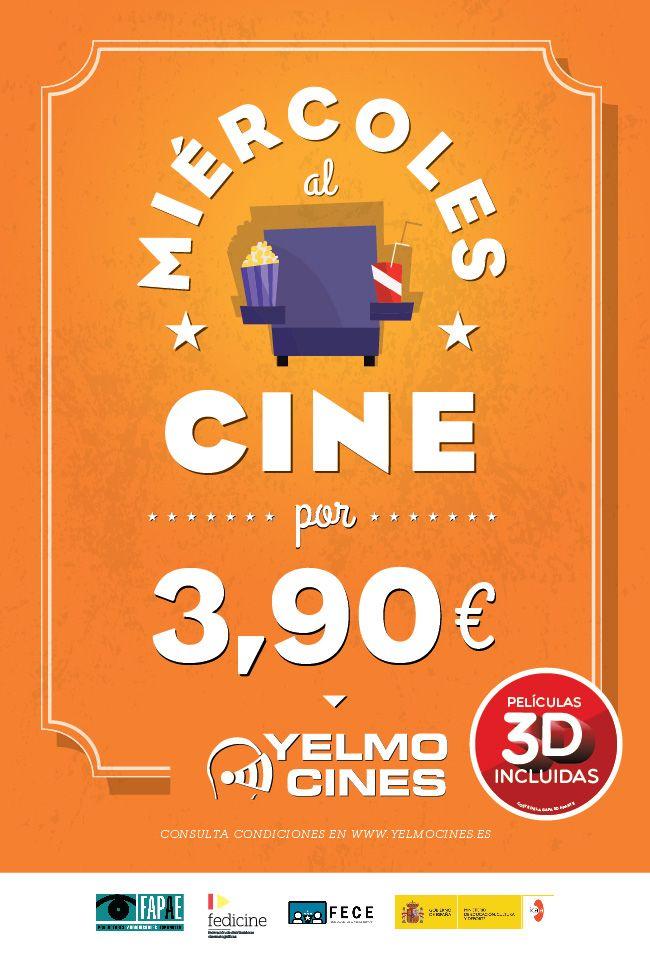 A partir del 15 de enero, disfruta todos los MIÉRCOLES, del mejor cine en Yelmo Cines Meridiano por sólo 3,90€ cada entrada.   Solo ven al cine, no necesitas acreditación, ni tarjeta, ni cupones... Compra tu entrada en taquilla o Internet.