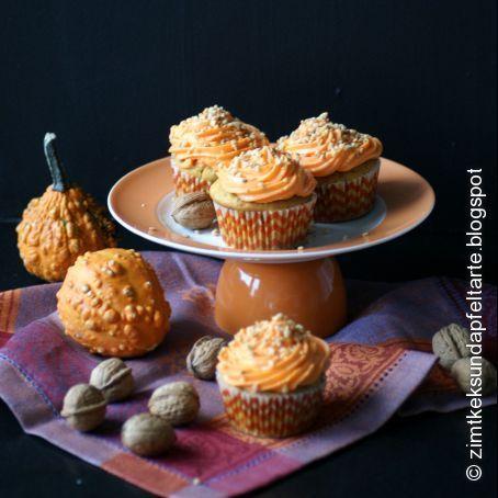 Kürbis Cupcakes mit Creamcheese-Frosting