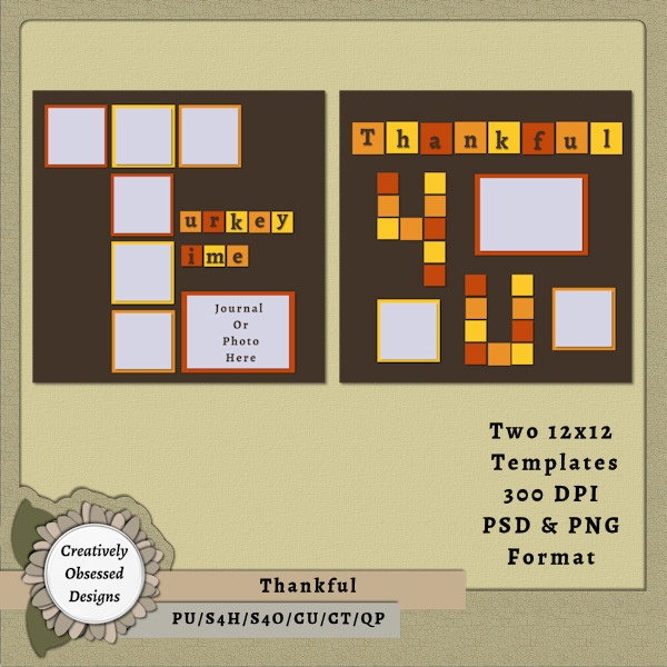 79 best 12x12 digital scrapbook templates images on pinterest fun squared add on thankful 12x12 pronofoot35fo Gallery