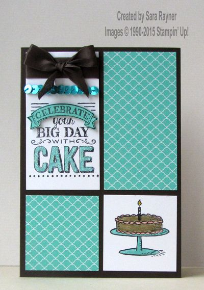 Big day stamped card, using Sale-a-bration freebies from Stampin' Up! www.craftingandstamping.com #stampinup