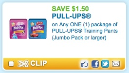 WooHoo!  A brand new $1.50/1 ANY Pull-Ups coupon just popped up on Coupons.com that will pair nicely with the sale at Rite-Aid next week (starting 5/20)!  Just use zip code 11758 and click on the Baby & Toddler category to find this coupon quickly. Check out this deal you can score at Rite Aid, starting [...]