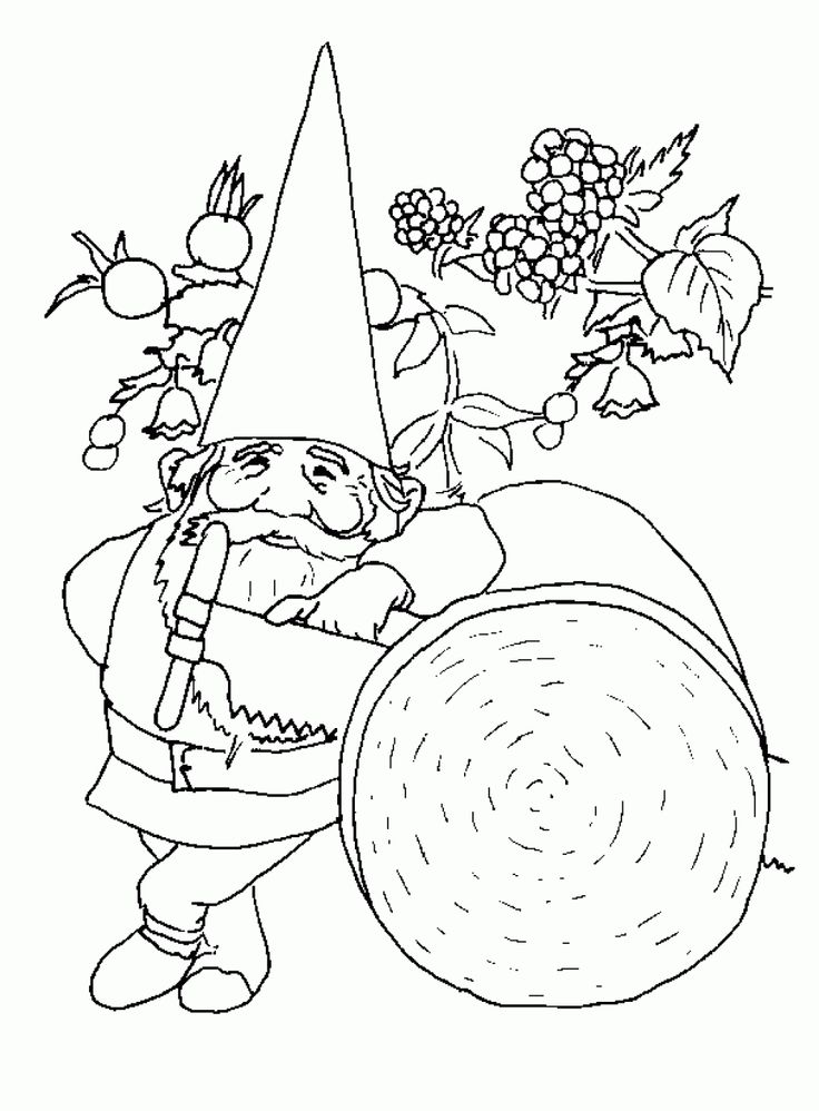 Gnome Printable   Printable Gnome 19th Coloring Pages for Kids Car Wallpapers