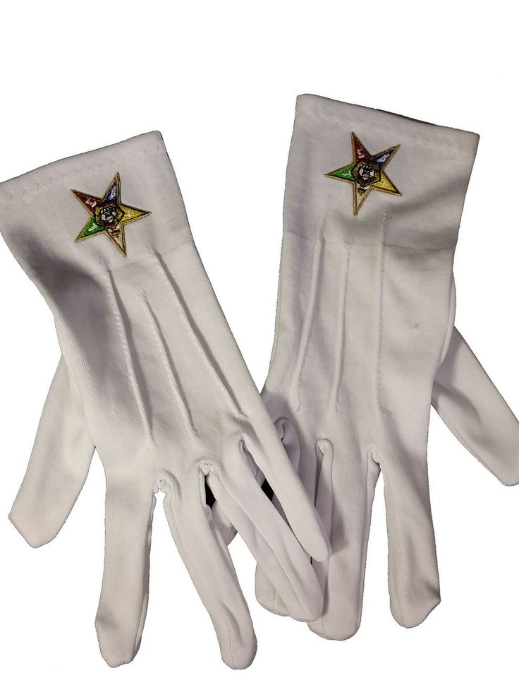 Brothers and Sisters' Greek Store - Order of the Eastern Star OES White Gloves with Symbol, $9.95 (http://www.brothersandsistersgreekstore.com/order-of-the-eastern-star-oes-white-gloves-with-symbol/)