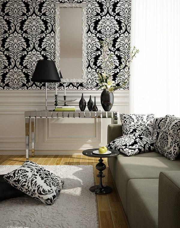 #Lifestyle #Noir & #Blanc #Black & #White | #Decoration_interieur #Interior_design | #Salon #lliving_room #sitting_room #lounge |