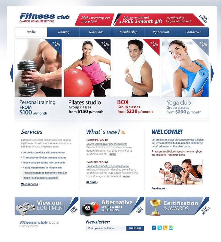 21+ Premium Gym and Fitness Website Templates | |Template