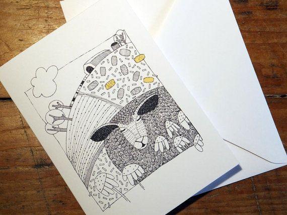 Greeting Card from an original art Illustration by EmmaGilesArt