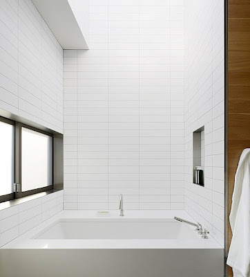 Stacked subway tile rather than brick. AM Dolce Vi…