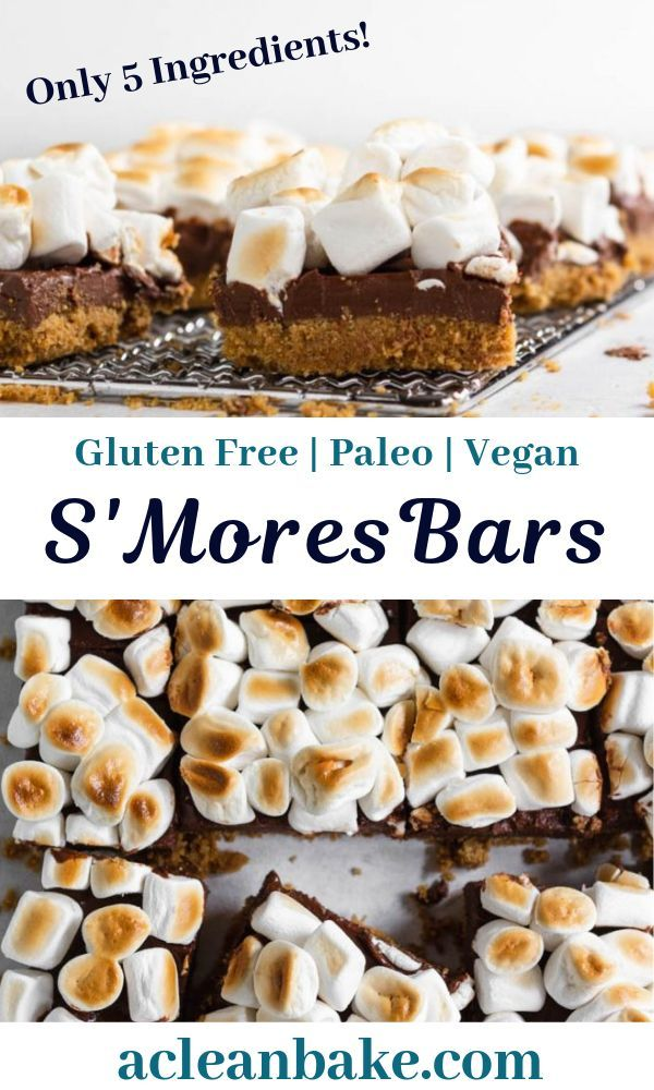 Paleo Smores Bars Gluten Free Dairy Free A Clean Bake Recipe Dairy Free Dessert Easy Easy Gluten Free Desserts Dairy Free Dessert