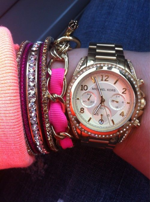 .: Stacked Bracelets, Fashion, Style, Wrist Candies, Michael Kors Watches, Accessories, Arm Candies, Arm Parties, Michaelkors