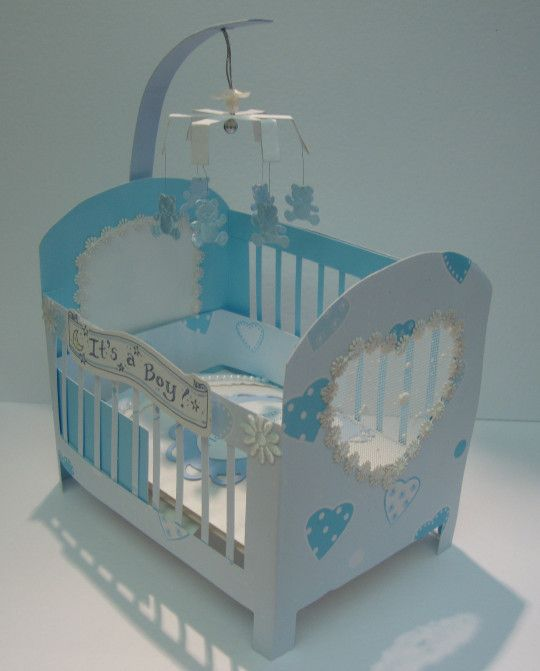 Sonia's Crafty Patch : I used an Arty Farty template for the cot, it was cut from double sided cardstock.