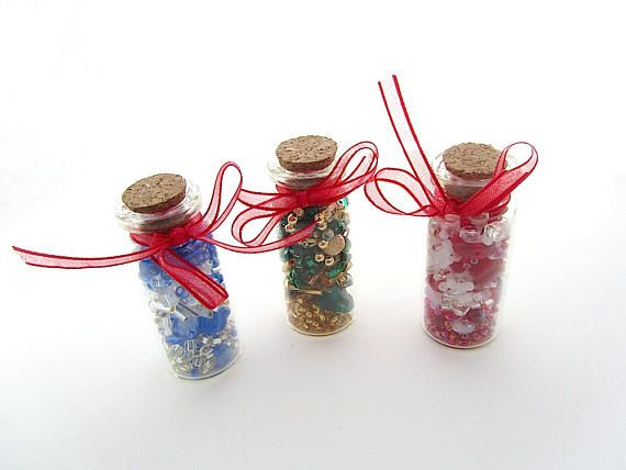 Three Bottles of Beads Loose Bead Assortments in Reusable