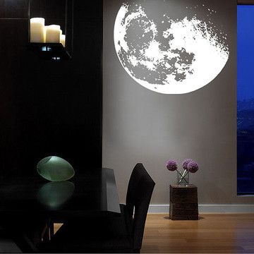 Fab.com | Bright Moon Shine 48x53 White Decal