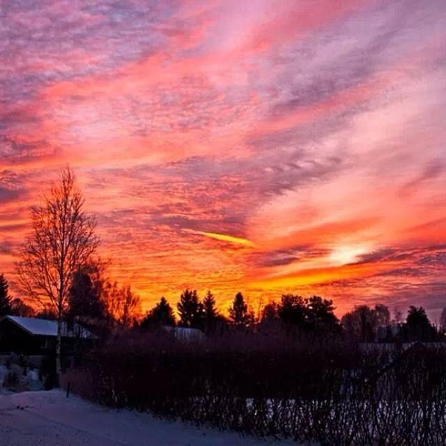 Sunrise in Norway.