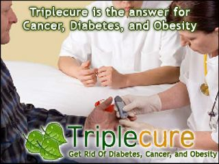 Triplecure is the answer for Cancer, Diabetes, and Obesity. Currently diabetes is the sixth leading cause of death in the United States. It is a disease in which the body does not produce or properly use the insulin necessary for the body to absorb glucose (sugar). This causes the glucose to accumulate in the blood-stream until levels get dangerously high.