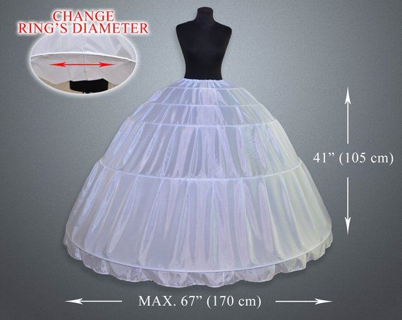 da17a02c4026 5 Hoops Petticoat Crinoline, wedding accessories, Underskirt for Ball Gown  Wedding Dress, masquerade | Products | Wedding dresses, Colored wedding  dresses, ...