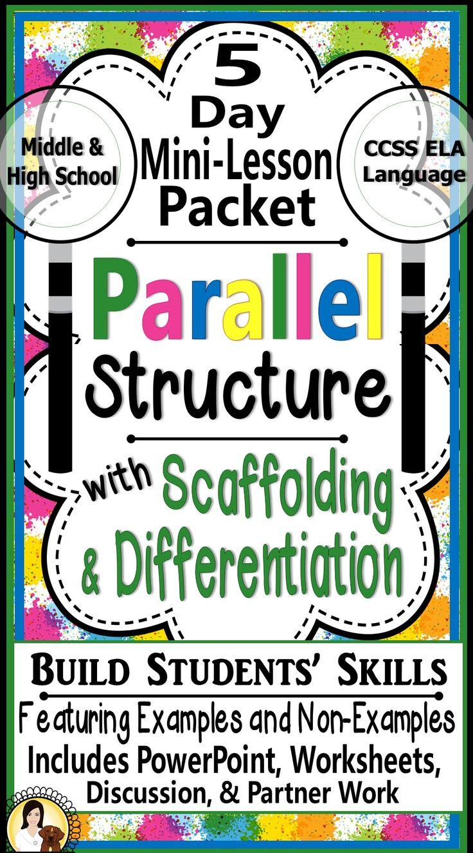 Parallel Structure Parallelism Grammar MiniLesson Packet
