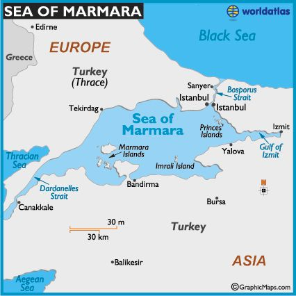 Sea of Marmara | map of sea of marmara