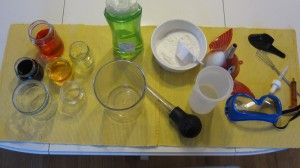 "pretend play-science lab: ""...a buffet of fun things safe to mix in experiments."""