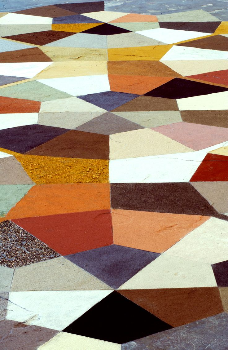 Gio Ponti did this type of geometric polychrome floor before anyone!  This one…