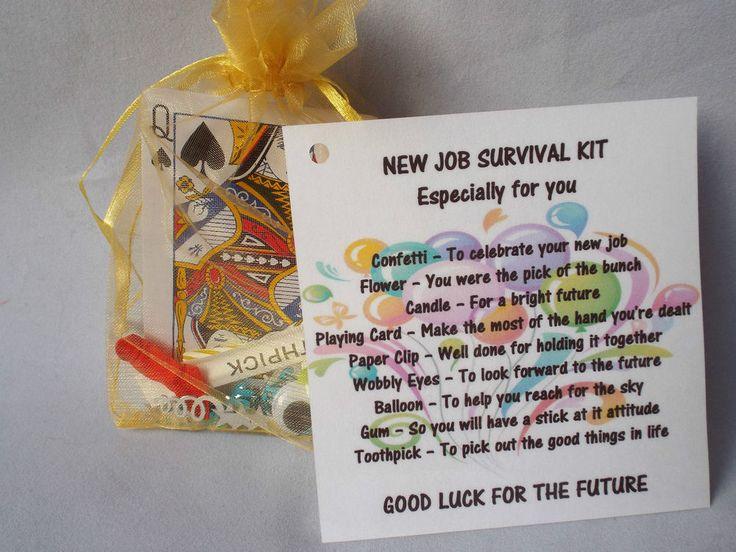 Details about New Job Novelty Survival Kit Gift Keepsake