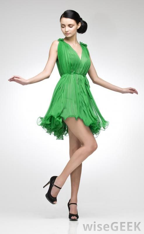 Cute green cocktail dress