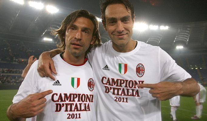 Pirlo et Nesta, champion d'italie 2011