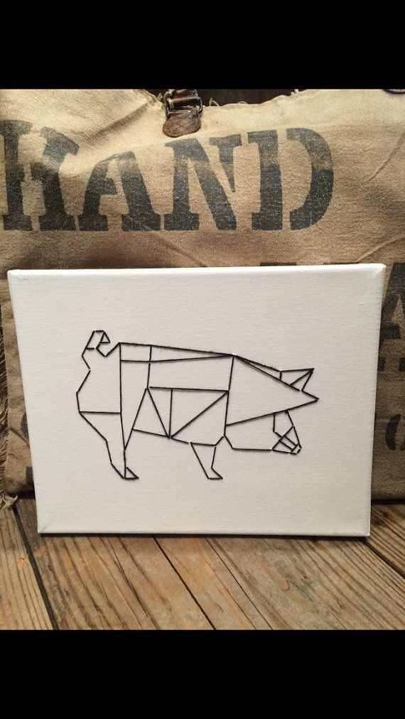 Geometric Pig String Art!