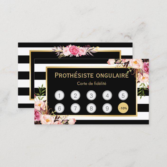 L'achat floral 9 obtiennent la 10ème carte de | Zazzle.fr en 2020 | Carte, Carte de fidélité ...