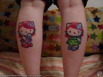Hello Kitty Calves Tattoos