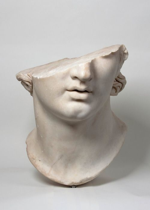 "hismarmorealcalm: "" Fragmentary Colossal Head of a Youth Greek Hellenistic period 2nd century B.C. Marble Antikensammlung, Staatliche Museen zu Berlin ""Pergamon and the Hellenistic Kingdoms of the Ancient World"" """