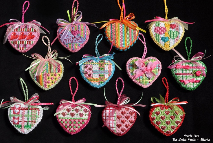 Hearts Club by The Nimble Needle - Atlanta  Stitch Guides available from The Nimble Needle