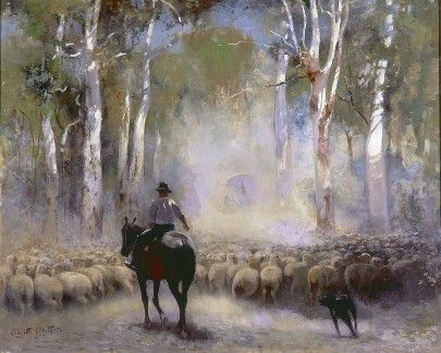 Walter Withers, The Drover 1912, oil on canas, David Whyte Bequest Fund 1916