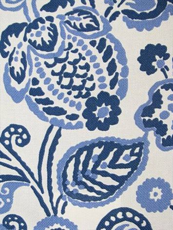 """OD Rava Periwinkle $20 Indoor/Outdoor fabric by P. Kaufmann Fabric. 100% poly slubby basket, resists mildew and fading. Durable 50,000 double rubs 27"""" repeat. 54"""" wide"""