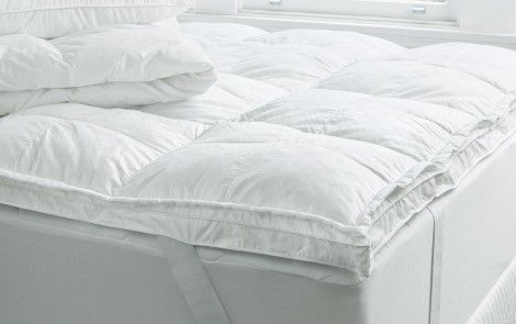 SHERIDAN DELUXE DREAM QUEEN BED TOPPER 100% microfibre polyester fill, with anti-bacterial Ultra-fresh finish Microfibre fill is ideal for allergy sufferers due to lack of fibre migration 300 thread count 100% cotton sateen cover with Sheridan 'S' logo feature Square baffled cassettes to prevent uneven clumping of fill